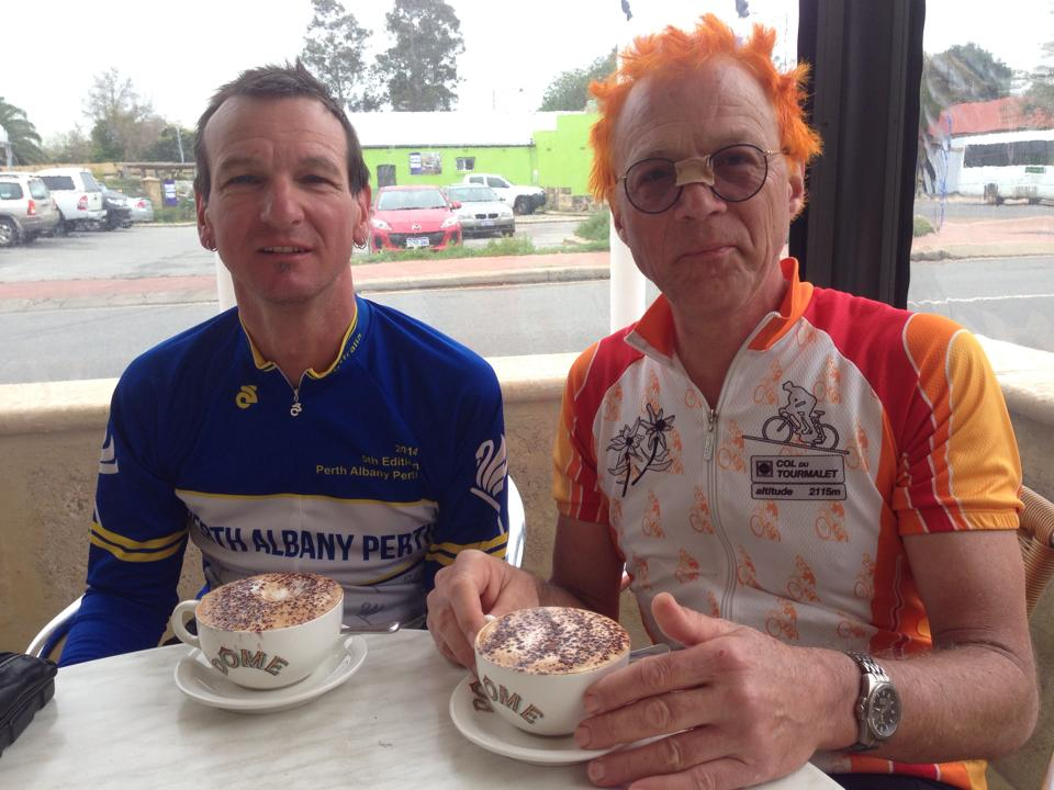 There's always time for coffee (L->R Wayne Hickman, Michael James)